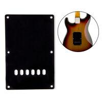 Guitar Back Plate Trem Cover for Fender Strat Body Guitar Parts Black 91mm*141mm