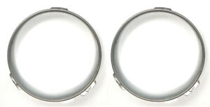 Pair Stainless Headlight Retaining Rings for 1947-1957 Ford Cars & Pickup Trucks