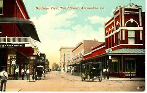 Early 1900's Bird's Eye View, Third Street in Alexandria, LA Louisiana PC