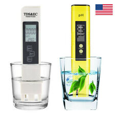 Auto Calibration LCD Digital Ph Meter + 3in1 TDS & EC Water Hydroponic Pool Test