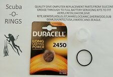 Premium Battery o'ring kit Oceanic Veo 1,Veo 2,Veo 3 & VT Pro + free grease NEW