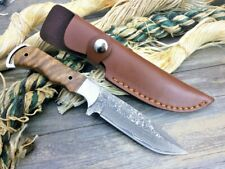 """Hunting Knife Combat Fixed Blade Hand Forged Damascus Steel Tactical Survival 4"""""""