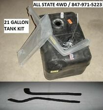 JEEP CJ CJ5 CJ7 21 GALLON PLASTIC GAS TANK KIT 1978-86 SENDER HOSES EXTENSIONS