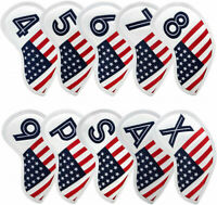 Golf Iron Covers Club Headcovers American Flag Embroidery for Taylormade Mizuno
