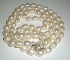 "Natural 8-9MM South Sea Baroque White Pearl Necklace 50"" AA"