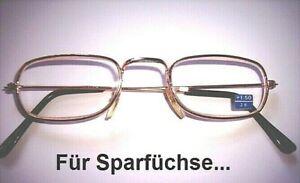 Lesebrille Lesehilfe Fertigbrille Ersatzbrille Halbbrille diverse Stärken