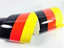 150mm Decorative Tape Decal Vinyl BMW GERMANY Flag DIY Sticker Stripe 3-Colored