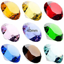 40mm Crystal Cut Glass Diamonds Paperweight Wedding Decorations 9 Colors Hot
