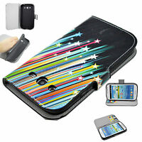 Premium Flip PU Leather Fold Wallet Pouch Case Cover Skin For Samsung Galaxy