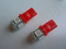 2 X  T10 194 168 2825 158 W5W LED DOME MAPLIGHT BULBS 5050 SMD 5 LED RED