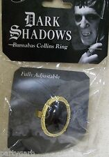 Dark Shadows Barnabas Collins Onyx Ring Costume Jewelry Vampire Gothic Adjusts