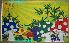 3'x5' Mushroom Flag Pot Weed Bud Smoking Joint Psychedelic Party 3x5
