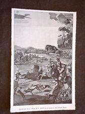 Torino Palazzina di caccia di Stupinigi Caccia alla lepre Rame di F. Mielle