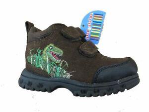 Step & Stride •Dino EZ• Brown Toddler/Boys Hiking Boot