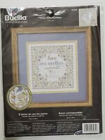 Plaid Bucilla Maria Stanziani LOVE ONE ANOTHER Counted Cross Stitch Kit NEW