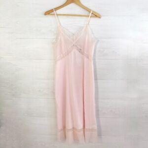 Vintage Montgomery Ward - Pale pink sheer nylon slip chemise, S