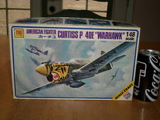 "WW#2, CURTISS P-40E -- "" WARHAWK "", Fighter Plane, Plastic Model Kit, Scale 1/48"