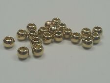 CCB Style Acrylic Beads, Oval, Golden, 6x5mm, Hole: 3mm Qty 50 Beads