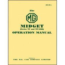 MG Midget Series TF & TF1500 Operation Manual book paper