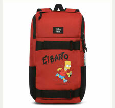 NWT VANS Obstacle Skatepack EL BARTO BACKPACK Limited Production RED x-Simpsons