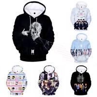 KPOP BTS Hoodie Bangtan Boys 3D Casual Hooded Pullover Coat Jumper Sweatshirt