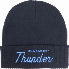 Mitchell & Ness Oklahoma City Thunder Beanie Hat - Navy