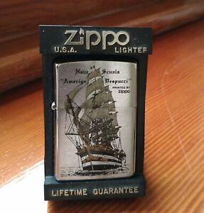 Accendino Lighter Zippo Nave scuola Amerigo Vespucci raro grigio come nuovo