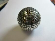 More details for antique edwardian silver plated novelty golf ball pepper, pounce pot, shaker!