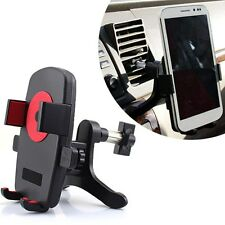 Support Voiture Grille Aération 360° Mount Holder Samsung S5 S4 S3 iPhone 4 5S 6