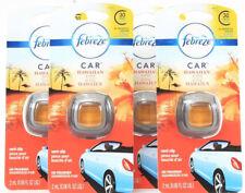 (4) Febreze Car Vent Clip Hawaiian Aloha Air Freshener Up To 30 Days 0.06 oz