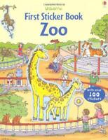 First Sticker Zoo (Usborne First Sticker Books) by Sam Taplin, NEW Book, FREE &