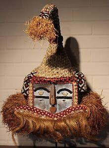 CONGO old african mask ancien masque d'afrique KUBA africa afrika kongo maske