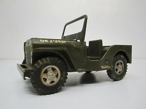 Vtg 1960s Tonka US Army Military Jeep Commander GR2-2431 Pressed Steel Toy As Is