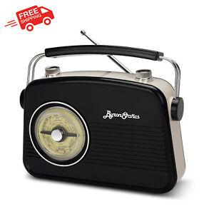 Small Vintage Retro Portable Radio AM FM Longest Lasting Battery Built Speakers