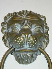 LAITON MASSIF LION HEURTOIR de porte STATUE vintage DOOR KNOCKER Türklopfer LYON