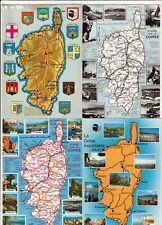 Lot 4 cartes postales CORSE Carte géographique 3