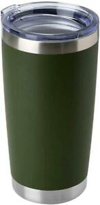 Stainless Steel Tumbler with Lid ArmyGreen