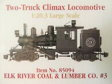 NEW BACHMANN G SCALE ELK RIVER COAL & LUMBER CO. #3 TWO-TRUCK CLIMAX