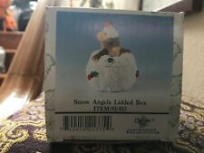 """Charming Tails """"Snow Angels Lidded Box"""" 98/483; New; Factory Sealed In Styro"""