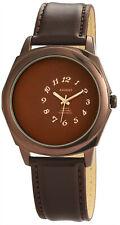 Akzent Herrenuhr Uhr Analog Armbanduhr Lederimitationarmband braun 3 ATM #775700