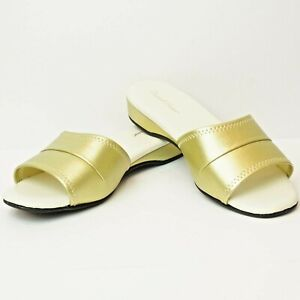 Daniel Green Womens Sz 7.5W Slippers Dormie Gold Slip On Comfy Slippers 7 1/2 W
