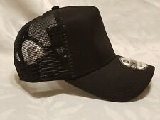 1X - New Era 9FORTY Snapback Trucker Cap Blank  { BLACK } 9Forty New Era