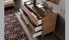 Kommode Schlafzimmer Highboard Holz Struktur Chromstahl Griff Modern Stil Italy