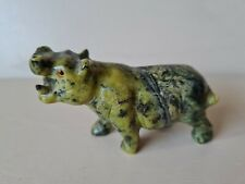 More details for small carved stone hippo 5cm tall x 7.5cm long