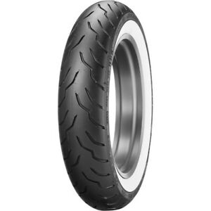 Dunlop American Elite 130/90B16 Wide White Wall Front Tire Harley Davidson