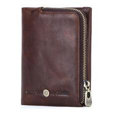 Mens Genuine Leather Wallet RFID Blocking Bifold Credit Card Holder Pocket Purse