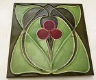 R@r Fliese Kachel Jugendstil Art Nouveau Tile CHERRY Carreau Hemixem green Tegel