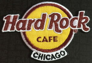 Hard Rock Cafe CHICAGO 2018 Classic HRC Logo PATCH on Card Iron/Sew On NEW!