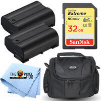 Battery Accessory Bundle Kit for Nikon D500 D610 D7100 D7200 D750 D7500 D850