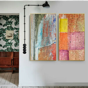 Color Paint Abstract Canvas Art Poster Painting Living Room Wall Decor